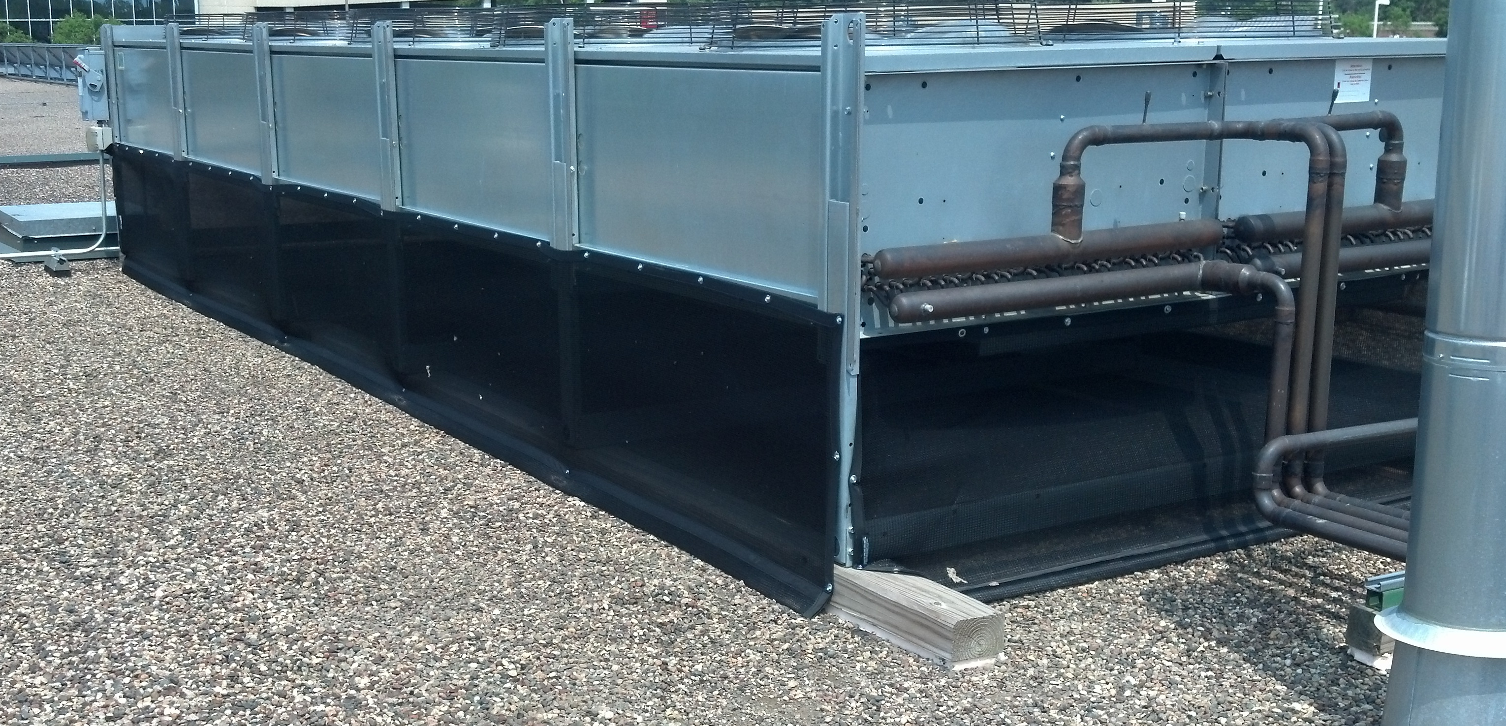 refrigerated-case-condenser-with-cottonwood-screen