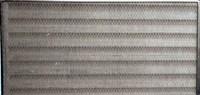 fan coil air intake louver filter captures debris