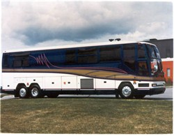 prevost bus using custom air filters